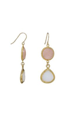 #diyEarrings with #DruzyAgate and Gold-Plated settings - Add the popular textural appeal of druzy agate to #jewelry