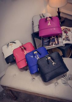 ccedfa6503 Vintage Nubuck Leather Women Bags Fashion Small Shell Bag With Deer Toy Women  Shoulder Bag Winter Casual Crossbody Bag