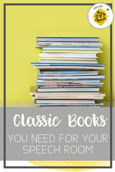 Top 10 classic books for speech therapy and how I use them!  Filled with tips and ideas for books you may already own.