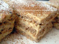 Prajitura fina cu ness, poza 3 Romanian Desserts, Romanian Food, Romanian Recipes, Cookie Desserts, Cookie Recipes, Peanut Butter Banana, Christmas Sweets, Sweets Recipes, Something Sweet