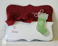 Stocking Tag by kyann22 - Cards and Paper Crafts at Splitcoaststampers