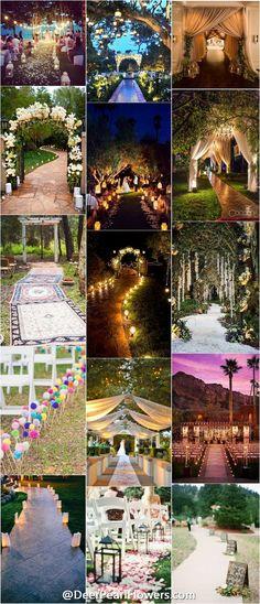 Wedding ideas / Wedding Entrance Walkway Decor Ideas / http://www.deerpearlflowers.com/wedding-entrance-walkway-decor-ideas/