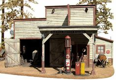 """MODELISMO Y MODELISTAS """"THE MASTERS"""" II (ANEXO DIORAMA): """"Red Oak Services Station"""" Esc 1/48 by Chuck Doan"""