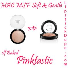 mac msf soft and gentle dupe elf baked blush pinktastic