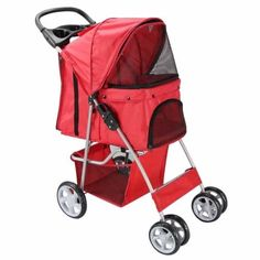 Pet Stroller Cat Dog 4 Wheeler Easy Walk Stroller Travel Folding Carrier * Discover this special product, click the image (This is an amazon affiliate link. I may earn commission from it)