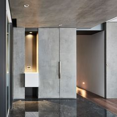 Pull Ups by OneWorkDesign Hall Interior Design, Interior Design Examples, Foyer Design, Hall Design, Interior Concept, Interior Design Inspiration, Modern Interior, House Design, Shoe Cabinet Design