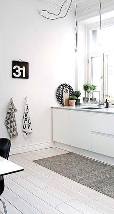 Via NordicDays.nl | White Alvhem Home | Kitchen | Black and White | &KITCHEN | InteriorDesignPro