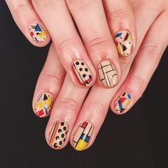 gorgeous abstract nail art.