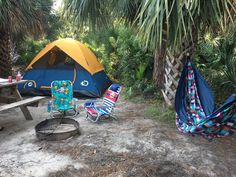 We're lucky to live in a state where there is warm weather year round. If you feel like taking a weekend to get away and disconnect from everything buzzing around you, then we have 13 perfect Florida camping destinations perfect for just that. Florida Camping, Kayak Camping, Camping World, Florida Vacation, Florida Travel, Kayak Fishing, Florida Beaches, Outdoor Camping, Florida Trips