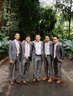 Grey Suits Brown Shoes Citrus Inspired Destination Wedding At La Quinta Resort Great Groom Style Pinterest Resorts And