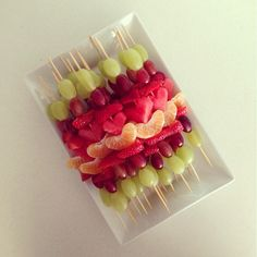 Fruit Kabobs - these would be great for kids snack!
