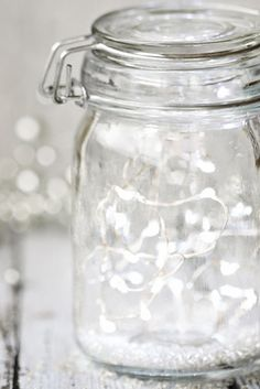 Such a simple way to add some twinkling Christmas cheer to your home and a lovely gift for kids to make for family. Pop strings of fairy lights into a Kilner jar.