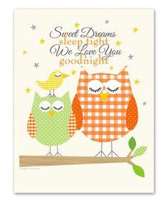 Look what I found on #zulily! Orange 'Sweet Dreams' Print by Ellen Crimi-Trent #zulilyfinds