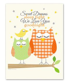 Look what I found on #zulily! Orange 'Sweet Dreams' Print by Ellen Crimi-Trent #zulilyfinds