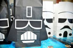 Star Wars treat bags. Cute party