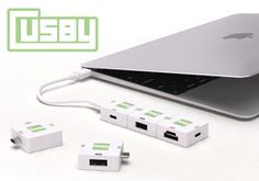 Cusby transforms lone Macbook USB-C port into an a-la-carte device hub 7/27/15 Cusby provides additional ports to laptops equipped with only a USB-C connection