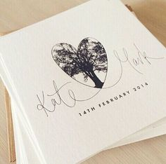 Really cute for a save the date...but maybe only for couples who have names that are somewhat the same length.