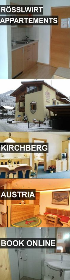 Hotel RÖSSLWIRT APPARTEMENTS in Kirchberg, Austria. For more information, photos, reviews and best prices please follow the link. #Austria #Kirchberg #travel #vacation #hotel