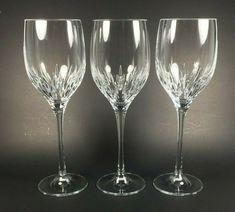 Vera Wang by Wedgwood Duchesse Crystal Wine Glasses, Set of 3 Crystal Wine Glasses, Crystal Stemware, Stemless Wine Glasses, Champagne Glasses, Glass Kitchen, Wedgwood, Vera Wang, Crystals, Kitchenware