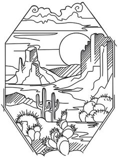 Enter a magical kingdom with this delightful toadstool house. Pillows, wall art, and denim jackets are the perfect canvas for this hand embroidery pattern. Easy Drawings, Tattoo Drawings, I Tattoo, Tattoo Sketches, Desert Tattoo, Coloring Books, Coloring Pages, Dibujos Zentangle Art, Urban Threads