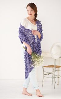Summer Stole - A #crochet #wrap with lots of fun texture!