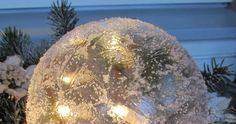 "#jäälyhty #kristallperlengeeli ""Jääkristalligeeli Christmas Bulbs, Xmas, Diy And Crafts, Holiday Decor, Repurpose, Christmas Light Bulbs, Christmas, Navidad, Noel"