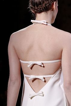 perfect use of bias strips and ends treatments. Valentino - Spring 2011 Couture