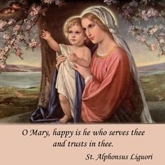 O Mary, happy is he who serves thee and trusts in thee. Mama Mary, Mary I, Mary And Jesus, Holy Mary, Catholic Art, Catholic Saints, Religious Art, Blessed Mother Mary, Blessed Virgin Mary