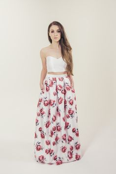 RTW Collection    E&W Couture    Mia Skirt    Pink Floral