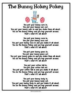 Your students will love singing and acting out this song.  Perfect for Easter or Springtime!  I use my poems and songs all year long.  Each student has a poetry binder and I usually add about 15 poems per month. Great to practice fluency, Reading Centers, Daily Five, Do-Nows, and to take home and share.In the full packet, there are a total of 23 poems/songs to use in the month of April with your primary students.-Balanced Literacy, Poetry, Spring Kindergarten, 1st, 2nd, 3rd, Homeschool