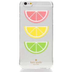 Kate Spade Glitter Fruit Iphone 6 Plus Case (2,060 DOP) ❤ liked on Polyvore featuring accessories, tech accessories and kate spade