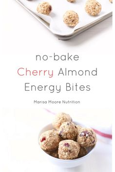 No-Bake Cherry Almond Energy Bites #ad | @marisamoore