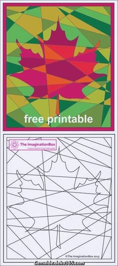 The ImaginationBox free printables: explore the russets and golds of Fall/Autumn. - The ImaginationBox free printables: explore the russets and golds of Fall/Autumn with this hidden maple leaf coloring sheet The ImaginationBox free pr. Fall Art Projects, School Art Projects, Projects For Kids, Art School, Craft Projects, Craft Ideas, Autumn Crafts, Autumn Art, Classe D'art