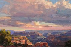 Cloudscape, North Ridge, Grand Canyon - Oil by Kathryn Stats