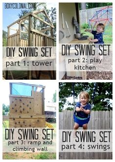 DIY Swing Set: Complete Plans and Parts list w/ price breakdown