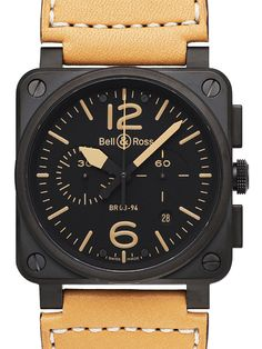Bell & Rose... Cool brown leather strap, too