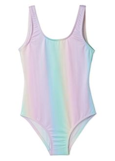 Unicorns Rainbows and Cotton Candy all wrapped up to go in this one dreamy bathing suit. Simple Easy Wear Tank shape in high quality fabric and vibrant print.  Swimsuits For All, Cute Swimsuits, Girl Outfits, Cute Outfits, Girls Bathing Suits, Tank Girl, Kawaii Clothes, Easy Wear, One Piece Swimsuit