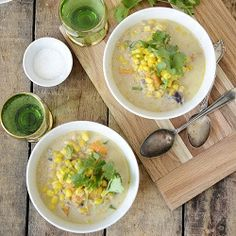 Winter Mexican Corn Soup.