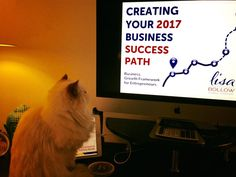 Are you joining me on my free, live training today?  Just wrapping up my slides for the webinar and my CFO gives it a thumbs up. If you haven't registered yet, we have space...would love to share how to create a success path for your business in 2017 with my business growth framework at 11am PST, 2pm EST http://lisabollow.com/event-registration/