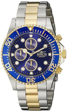 584e3bfe Invicta Men's 1773 Pro Diver 18k Gold Ion-Plating and Stainless Steel Watch  Casual Watches