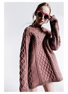 thewhitepepper:  Another fab image from the Chasseurs feature shot by Matt Lain, styled by Toni Caroline. Model wears TWP Oversized Knit Jumper in Dusky Pink.  Like THE WHITEPEPPER on Facebook