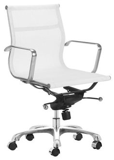 Ordinaire AG Management Chair White Mesh