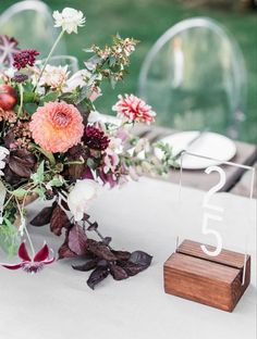 acrylic wedding table number / http://www.himisspuff.com/acrylic-and-lucite-wedding-decor-ideas/3/