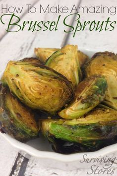 Roasted Brussels Sprouts – this recipe actually makes Brussels Sprouts taste amazing!  I thought I hated brussel sprouts until I tried this...