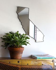 California Mirror / Wall Mirror State Outline by fluxglass on Etsy