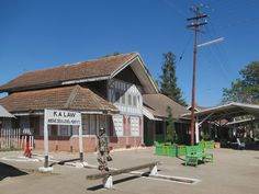 The Tudor-style railway station at Kalaw, Myanmar (Burma), hasn't changed much since British colonial times. Burma Railway, Tudor Style, British Colonial, Times, Drawing, Architecture, House Styles, Outdoor Decor, Draw