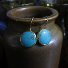 Boucles d'oreilles turquoise by HurremSultanJewelry on Etsy