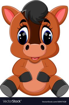 Find Cute Cartoon Brown Horse stock images in HD and millions of other royalty-free stock photos, illustrations and vectors in the Shutterstock collection. Thousands of new, high-quality pictures added every day. Horse Cartoon, Cute Cartoon Animals, Cartoon Pics, Cartoon Art, Baby Animals, Cute Animals, Cartoon Caracters, Brown Horse, Happy Paintings