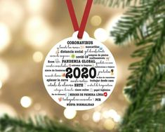 2020 - a year that wont be forgotten. Two sides printed. Made from durable wood which wont break, bend, crack, fade or peel.  Each ornament comes ready to hang with a red ribbon hanger.  Measures approximately 2.7 inches.  ------------------------------- ORDER PROCESS -------------------------------