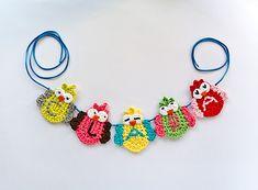 Ravelry: Garland of Colorful Owls pattern by Carolina Guzman